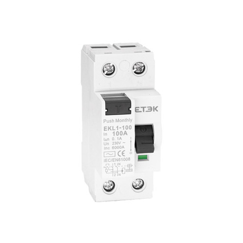 EKL1-100 6KA Residual Current Circuit Breaker
