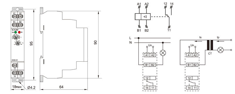 Current Monitoring Relay Supplier_Current Monitoring Relay Drawing